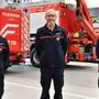 Philipp Hengartner, Martin Kaderli und Roman von Arx (von links) quittieren Ende Jahr den Feuerwehrdienst in Olten.