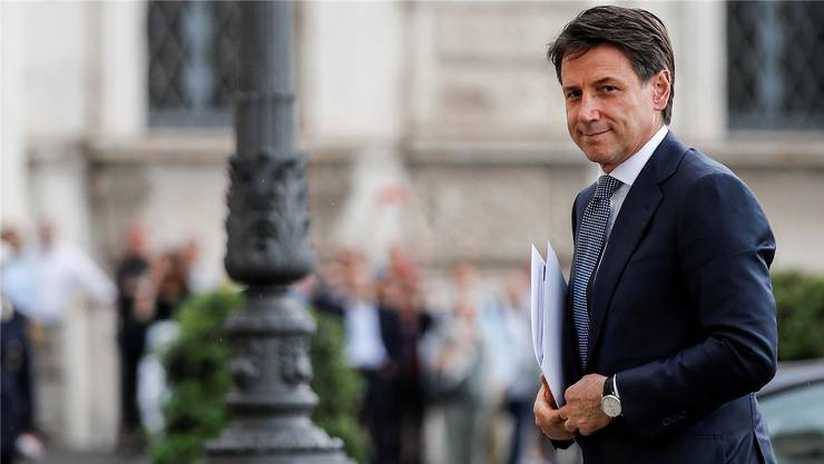 Staatspräsident Sergio Mattarella erteilte Giuseppe Conte (im Bild) am Mittwochabend den Auftrag zur Regierungsbildung