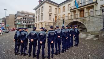 Bei den Aargauer Kantonspolizisten sorgt der Spar-Entscheid des Grossen Rats für reichlich Unmut. (Archivbild)