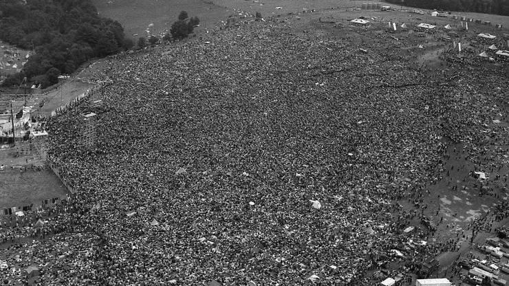 Woodstock 1969: Die Hippies zelebrierten ähnliche Ideale wie die Street Parade heute.