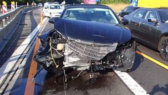 Das verunfallte Auto