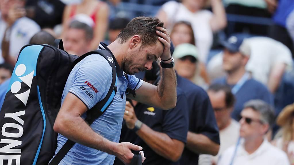 Keine guten Erinnerungen: Seit seinem Viertelfinal-Out am 3. September am US Open stand Stan Wawrinka nicht mehr im Einsatz