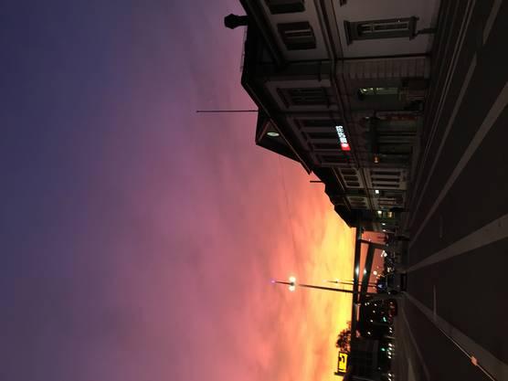 Früh am Morgen am Solothurner Hauptbahnhof