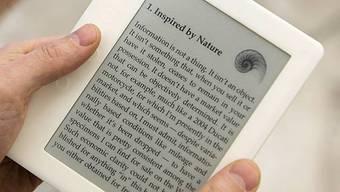 Bildschirm statt Papier: Die Preise für digitale Lesegeräte dürften sich halbieren.
