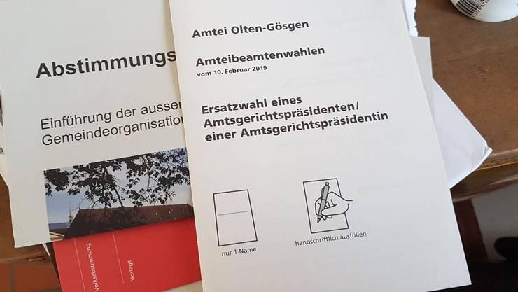 Diese Abstimmungsunterlagen landeten beim Solothurner Charlie Schmid im Briefkasten.