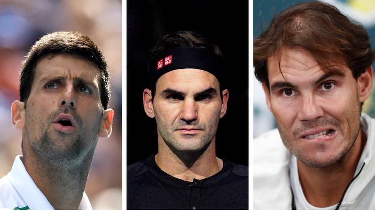 Novak Djokovic, Roger Federer und Rafael Nadal stehen in der Kritik.