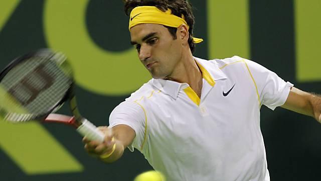Auftaktsieg in Doha für Roger Federer