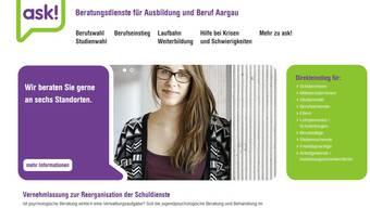 Der Internetauftritt des Beratungsdienstes für Ausbildung und Beruf Aargau (ask!)