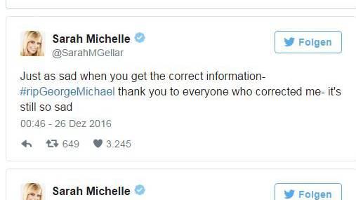 Sarah Michelle Gellar verwechselt George Michael mit Boy George