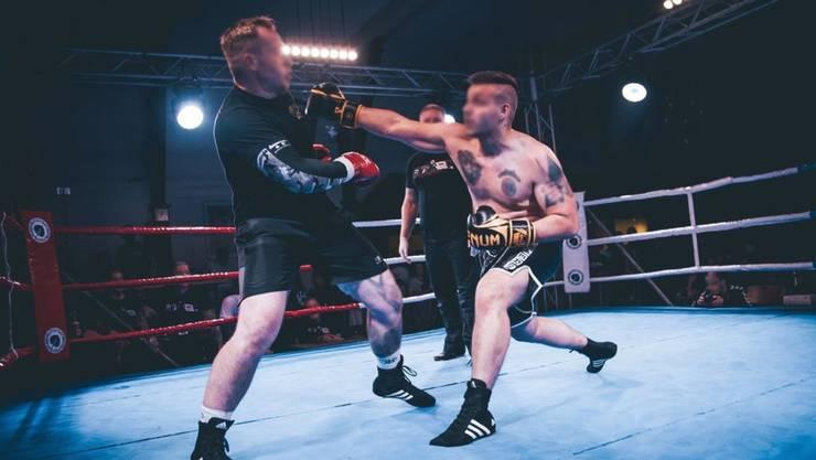 Der Basler Kampfsportler R.P. (rechts) im Einsatz am Event «Kampf der Nibelungen»