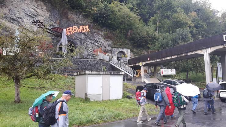 Kurz vor dem Eingang zum Bergwerk