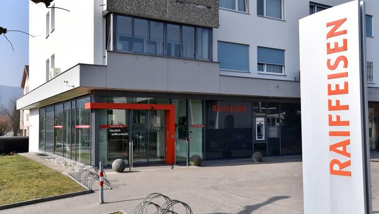 Der Standort der Raiffeisenbank in Däniken.
