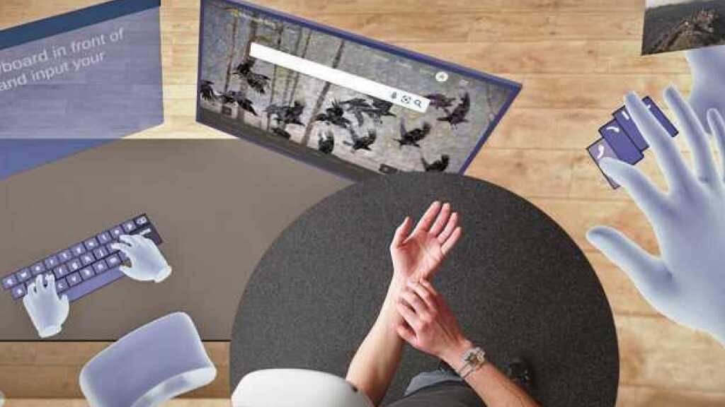 An der ETH wurde ein virtuelles Keyboard-System entwickelt, das nichts weiter benötigt als einen Handgelenksensor, der die charakteristischen Bewegungsmuster der diversen Finger in Computer-Befehle übersetzt. (Bild ETH)