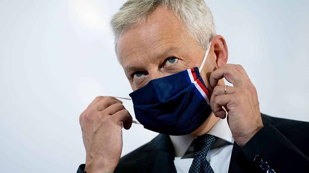 Bruno Le Maire, Frankreichs Minister für Wirtschaft und Finanzen, sieht sich einem wachsenden Schuldenberg wegen der Coronakrise gegenüber. (Archivbild)
