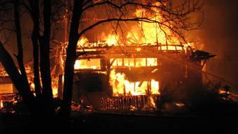 Grossbrand in Brittnau: Bauernhaus brannte komplett nieder