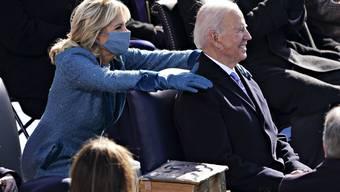 First Lady Jill Biden und ihr Mann Joe Biden kurz nach dem Amtseid.