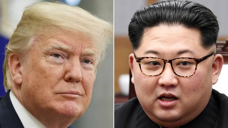 Doch kein Treffen am 12. Juni: US-Präsident Donald Trump (links) hat das mit Spannung erwartete Treffen mit Nordkoreas Machthaber Kim Jong Un abgesagt. (Archiv)