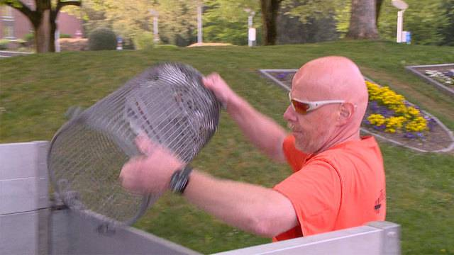 Ex-Bankräuber Portmann: Jetzt leert er Abfallkörbe statt Tresore