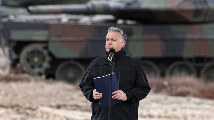 Viktor Orbán anlässlich seiner Rede zum 20-jährigen Jubiläum von Ungarns Nato-Mitgliedschaft.