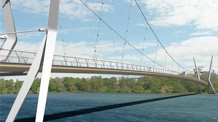 Gegen den Bau des Rheinsteges werden derzeit Unterschriften gesammelt. zvg