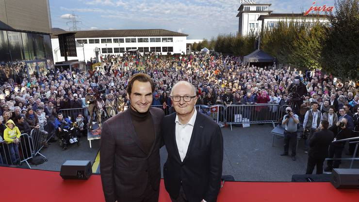 Roger Federer an der Jubiläumsfeier