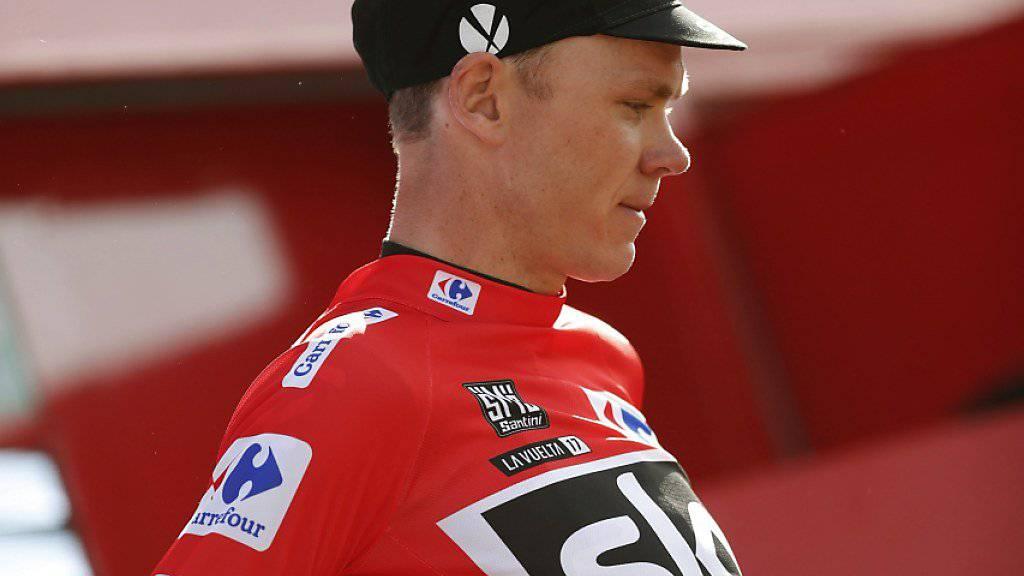 Chris Froome an der Vuelta weiterhin im roten Leadertrikot.