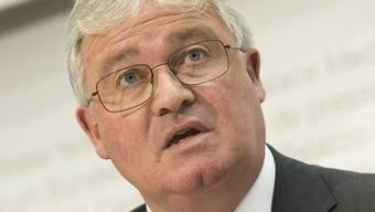 Alt-Nationalrat Markus Zemp am Donnerstag bei der Medienkonferenz in Bern