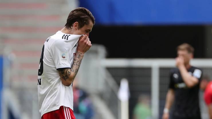 Riesen-Enttäuschung: Hamburg's Adrian Fein.