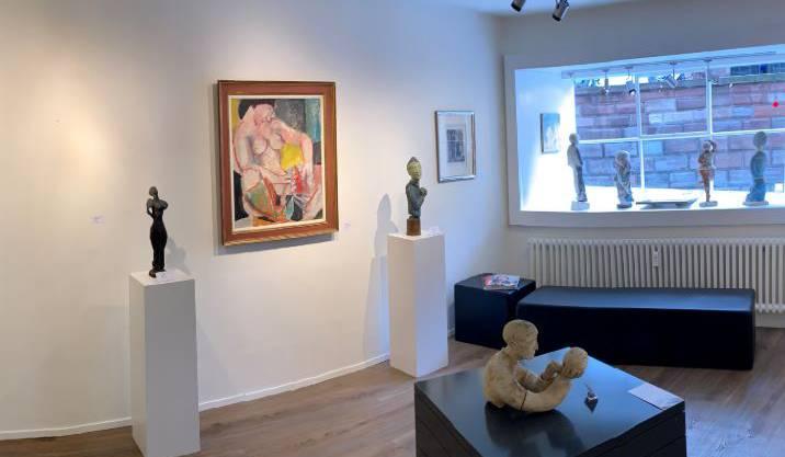 Gibt Einblick in die Ausstellung Alexander Zschokke