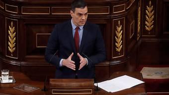 """Spaniens Ministerpräsident Pedro Sánchez hat  seinem Kabinett einen Plan für die schrittweise Rückkehr zu einer """"neuen Normalität"""" vorgelegt. (Archivbild)"""