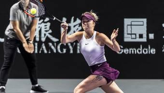 Die Titelverteidigerin Jelina Switolina startete mit einem Sieg in die WTA Finals in Shenzhen