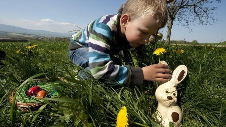 Ostern macht vor allem den Kindern Spass. Doch auch die Grossen freuen sich über die Schokolade.