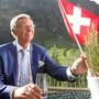 Hat eine gewisse Nähe zur Schweiz - und zu Markus Söder: Der deutsche CDU-Politiker Wolfgang Bosbach am 1. August 2019 in Samnaun.