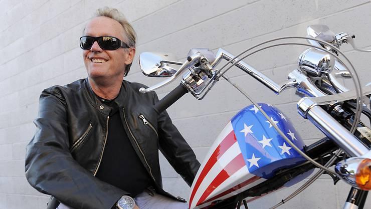 """1969 wurde Peter Fonda als Motorradfreak """"Captain America"""" in dem Kult-Streifen """"Easy Rider"""" zum Idol der Hippie-Bewegung. (Archivbild)"""