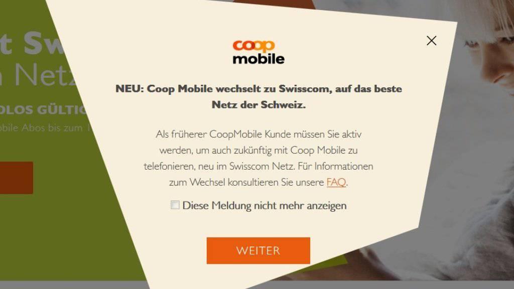 Coop Mobile wechselt per sofort von Salt zur Swisscom.