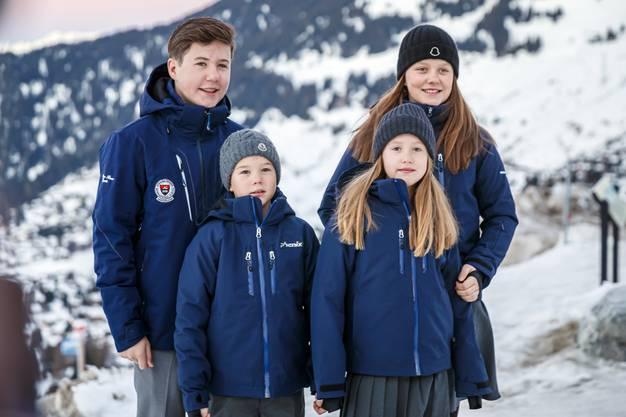 Prinz Christian (14), Prinzessin Isabella (12) und die Zwillinge Josephine und Vincent (beide 8).