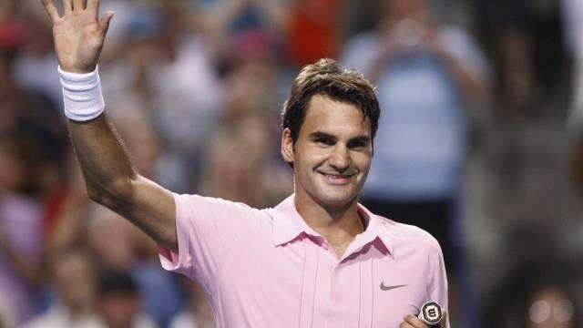 Grund zum Strahlen bei Roger Federer
