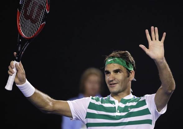 Damit ist Roger Federer der älteste Spieler seit Andre Agassi, der einen Grandslam-Viertelfinal erreicht.