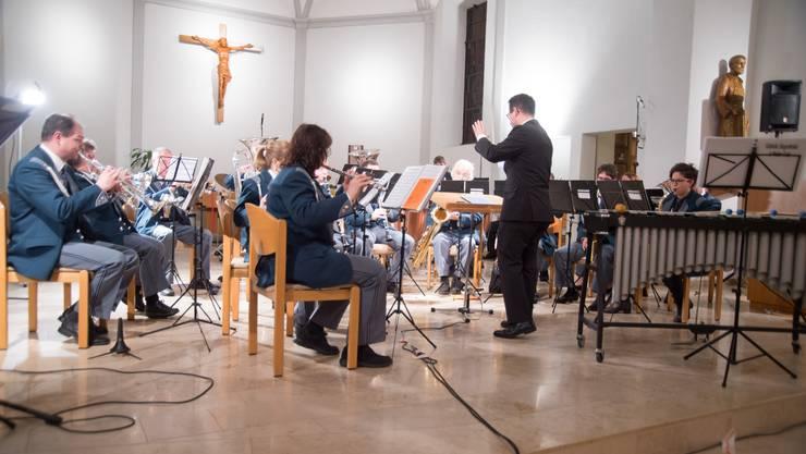 Die Musikgesellschaft Luterbach mit ihrem traditionellen Adventskonzert, das auch der dritte Jubiläumsanlass war.