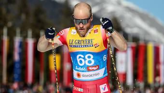Bei hohen Temperaturen zum ersten Einzelgold: der Norweger Martin Johnsrud Sundby