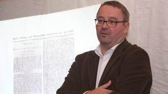 Gerichtspräsident Christian Märki in Teufenthal.