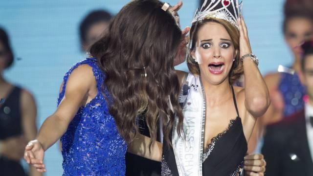 Miss Schweiz Laetitia Guarino kann ihr Glück nicht fassen