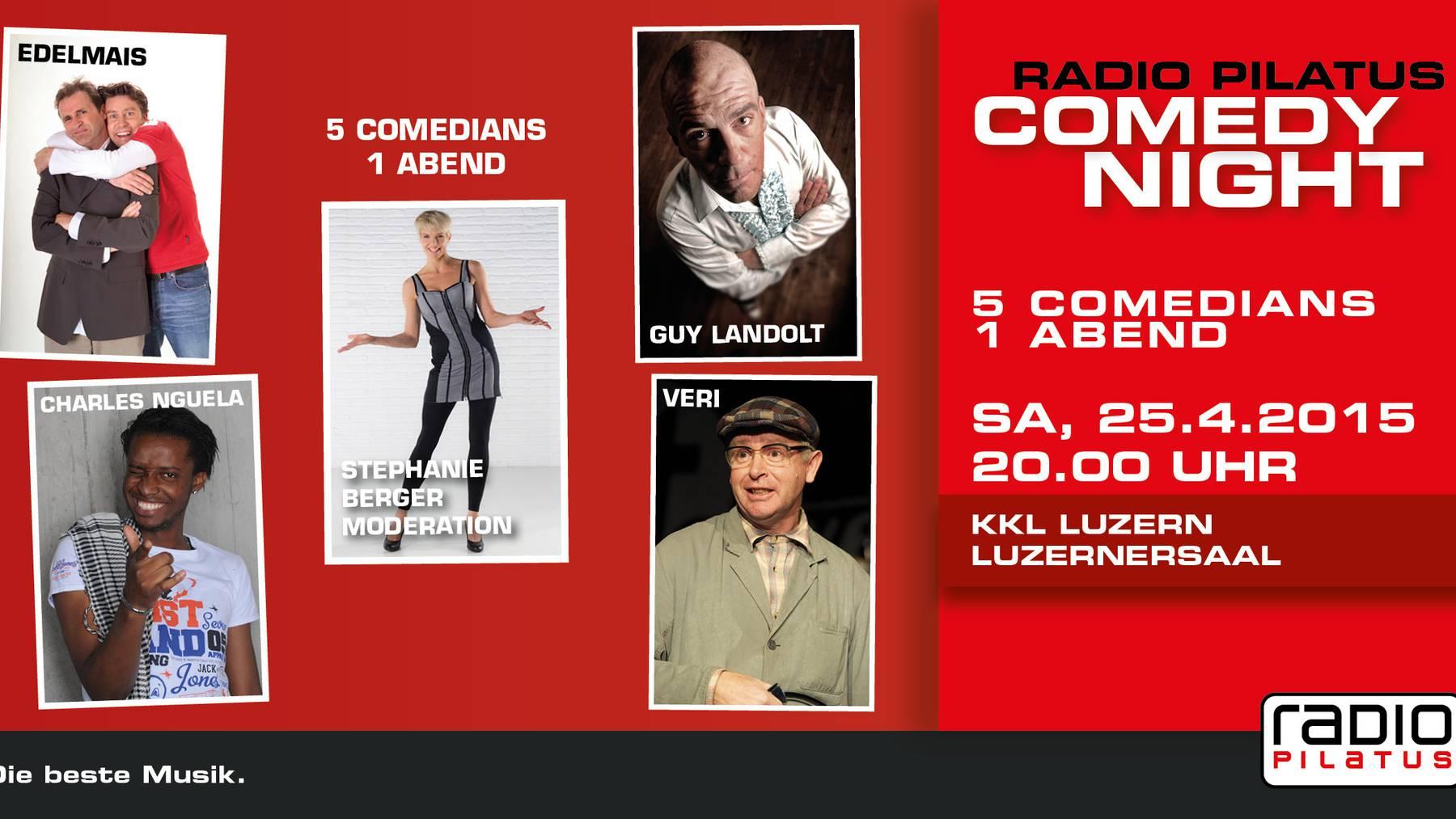 Radio Pilatus Comedy Night - Samstag, 25. April 2015