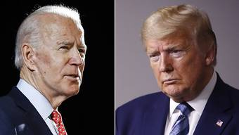Der designierte US-Präsidentschaftskandidat Joe Biden (links) liegt laut einer Fox-News-Umfrage derzeit in wichtigen Swing-States vor dem Amtsinhaber Donald Trump. (Archivbild)