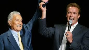 Starkes Team: Weider und Schwarzenegger 2003 in Las Vegas (Archiv)