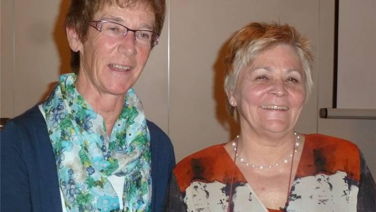Annelies Rüttimann (links) und Vroni Guidon freuen sich über die neue Anlaufstelle im Solino Boswil. ZVG
