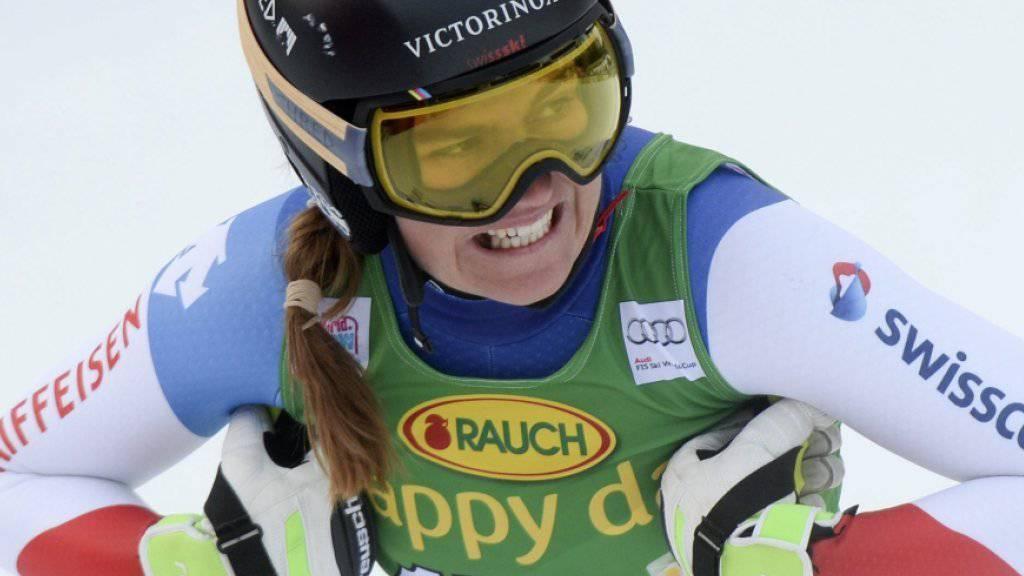Gute Erinnerungen: Vor einem Jahr belegte Fabienne Suter in der zweiten Abfahrt in Lake Louise den zweiten Platz