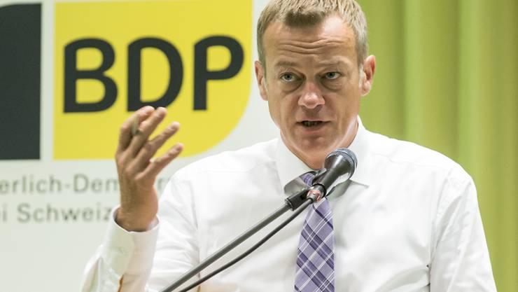 """BDP-Präsident Martin Landolt sprach in Altdorf an der Delegiertenversammlung über die Herausforderung """"Masseneinwanderungsinitiative""""."""