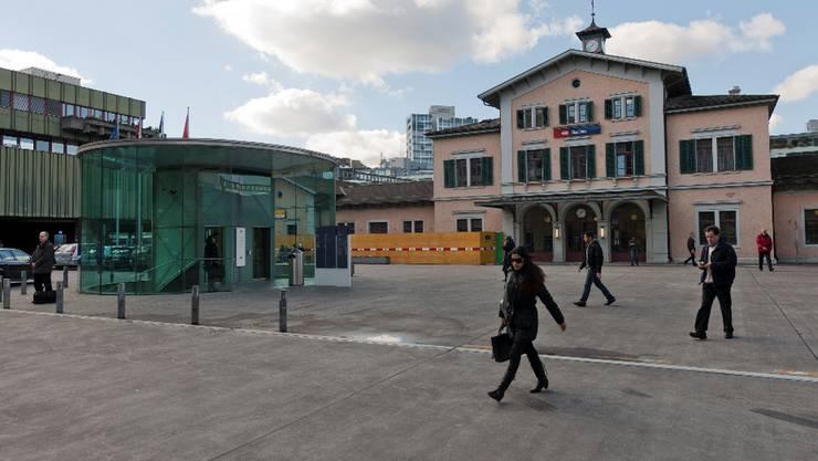Unfall beim Bahnhofplatz. (Archiv)