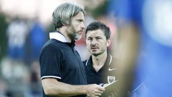 «Er kennt meine Gedankengänge»: Marinko Jurendic (r.) muss in Wil auf die Entscheidungen seines Assistenten Stephan Keller vertrauen.